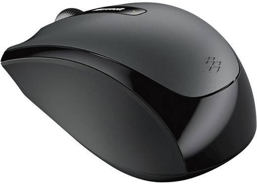 Funk-Maus Optisch Microsoft Wireless Mobile Mouse 3500 Schwarz