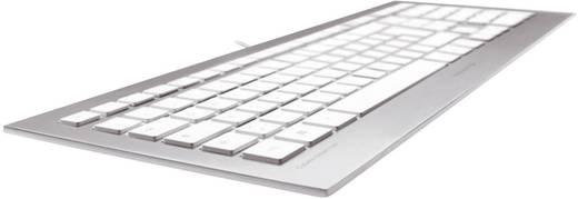 USB-Tastatur CHERRY Strait Silber Spritzwassergeschützt
