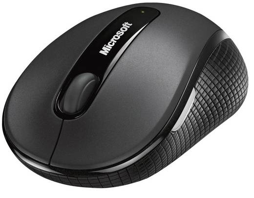 Funk-Maus Optisch Microsoft Wireless Mobile Mouse 4000 Schwarz