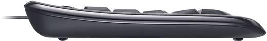 USB-Tastatur Microsoft WIRED KEYBOARD 600 Schwarz Spritzwassergeschützt