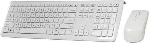 Funk-Tastatur,- Maus-Set Perixx Periduo-703 W Weiß