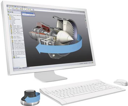 3D-Maus Optisch 3Dconnexion SpaceNavigator Schwarz