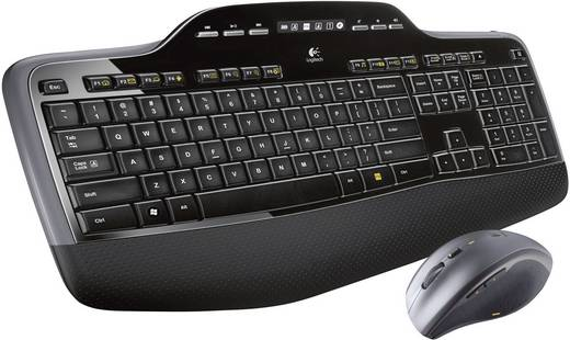 Logitech Wireless Desktop MK-710 Funk-Tastatur,- Maus-Set Schweiz, QWERTZ, Windows® Schwarz
