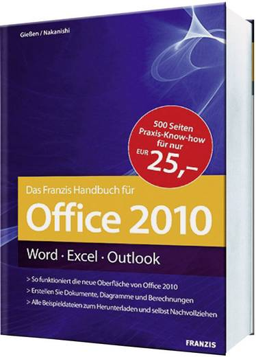 office 2010 handbuch word excel outlook kaufen. Black Bedroom Furniture Sets. Home Design Ideas