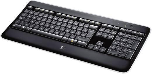 Funk-Tastatur,- Maus-Set Logitech MX800 WIRELESS PERFORMANCE COMBO Beleuchtet Schwarz