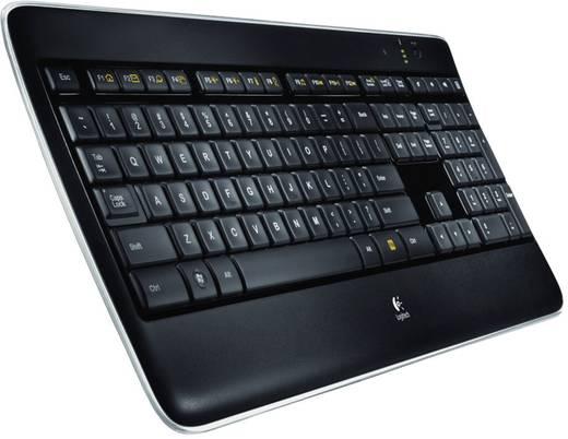 Funk-Tastatur Logitech K800 Wireless Illuminated Keyboard Schwarz Beleuchtet