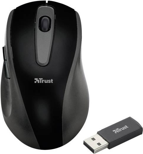 Funk-Maus Optisch Trust Easyclick Wireless Mouse Schwarz