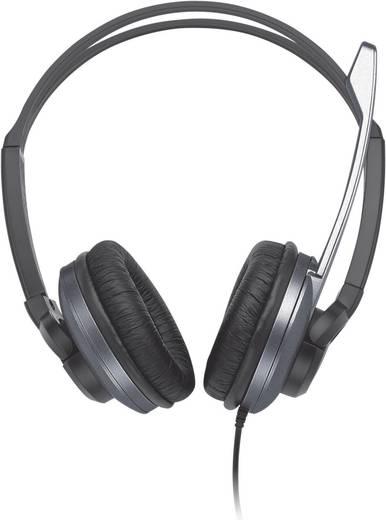 PC-Headset 3.5 mm Klinke schnurgebunden, Stereo Trust Zaia HS-2800 Over Ear Schwarz