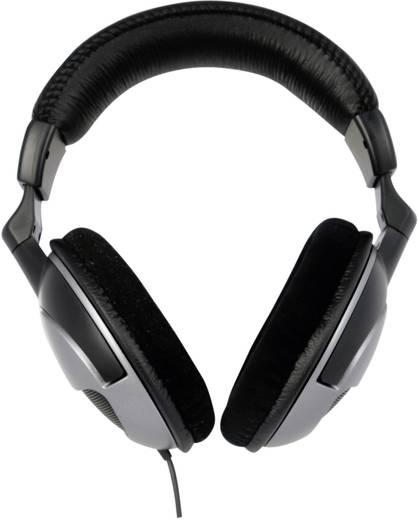 PC-Headset 3.5 mm Klinke schnurgebunden, Stereo A4 Tech A4-HS-800 Over Ear Schwarz/Silber