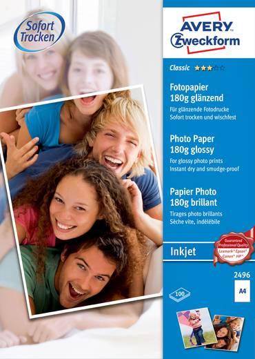 Fotopapier Avery-Zweckform Classic Photo Paper Inkjet 2496 DIN A4 180 g/m² 100 Blatt Glänzend
