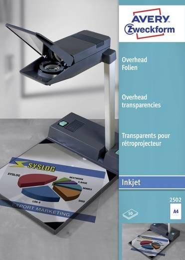 Tintenstrahl Overhead-Folie Avery-Zweckform Overhead Folien 2502 DIN A4 Bedruckbar, Optimiert für Tintenstrahl 50 St.