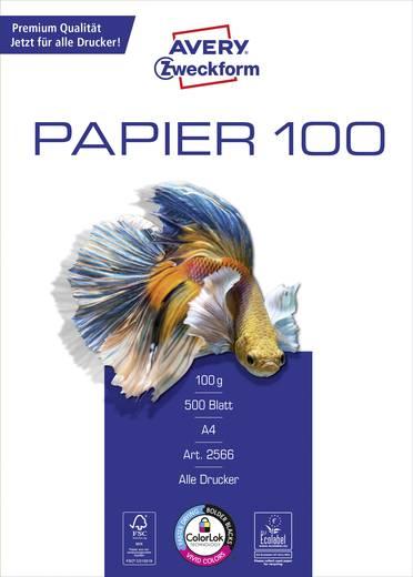 Tintenstrahl Druckerpapier Avery-Zweckform Inkjet Paper Bright White 2566 DIN A4 100 g/m² 500 Blatt Hoch-Weiß