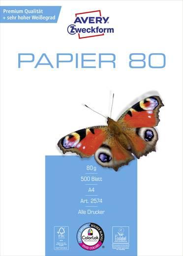 Avery-Zweckform PAPER Inkjet + Laser 2574 Universal Druckerpapier DIN A4 80 g/m² 500 Blatt Weiß