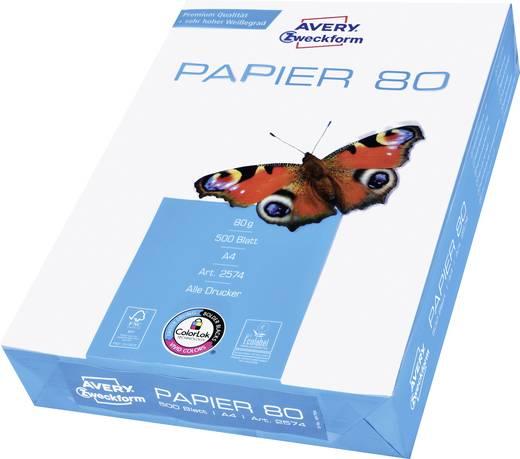 Universal Druckerpapier Avery-Zweckform PAPER Inkjet + Laser 2574 DIN A4 80 g/m² 500 Blatt Weiß