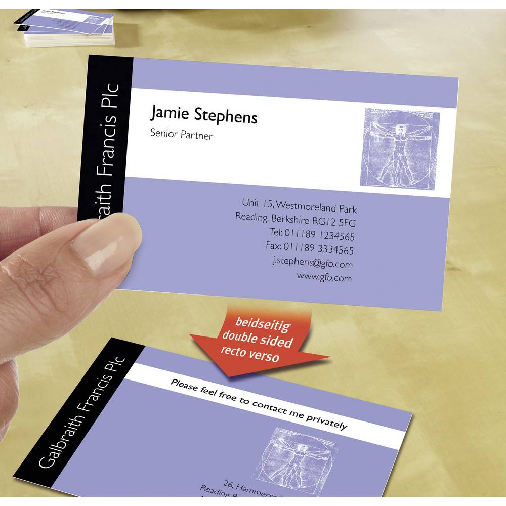 Printable business cards smooth edge avery zweckform c32015 10 85 printable business cards smooth edge avery zweckform c32015 10 85 x 54 reheart Image collections