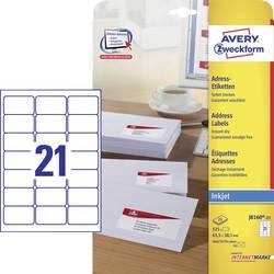 Image of Avery-Zweckform Adress-Etiketten, Universal-Etiketten J8160-25 63.5 x 38.1 mm Papier Weiß 525 St.