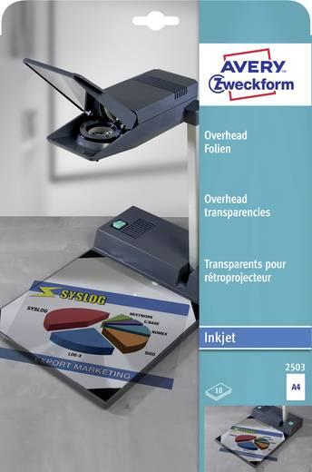 Tintenstrahl Overhead-Folie Avery-Zweckform Overhead Folien 2503 DIN A4 Bedruckbar, Optimiert für Tintenstrahl 10 St.