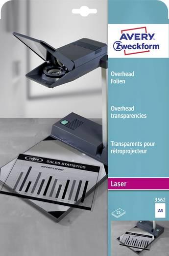 Laser Overhead-Folie Avery-Zweckform Overhead Folien 3562 DIN A4 Transparent 25 St.