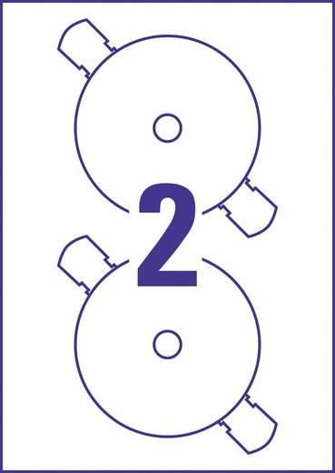Avery-Zweckform DVD-Etiketten C9780-15 Ø 117 mm Folie Weiß 30 St. Permanent Fotoqualität, Blickdicht, Bis Kernloch bedr