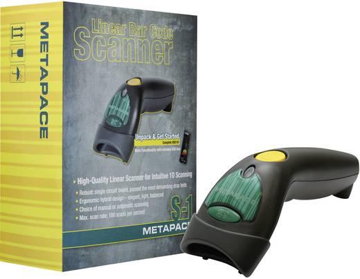 Metapace S-1 USB-Kit Barcode-Scanner Kabelgebunden 1D Imager Anthrazit Hand-Scanner USB