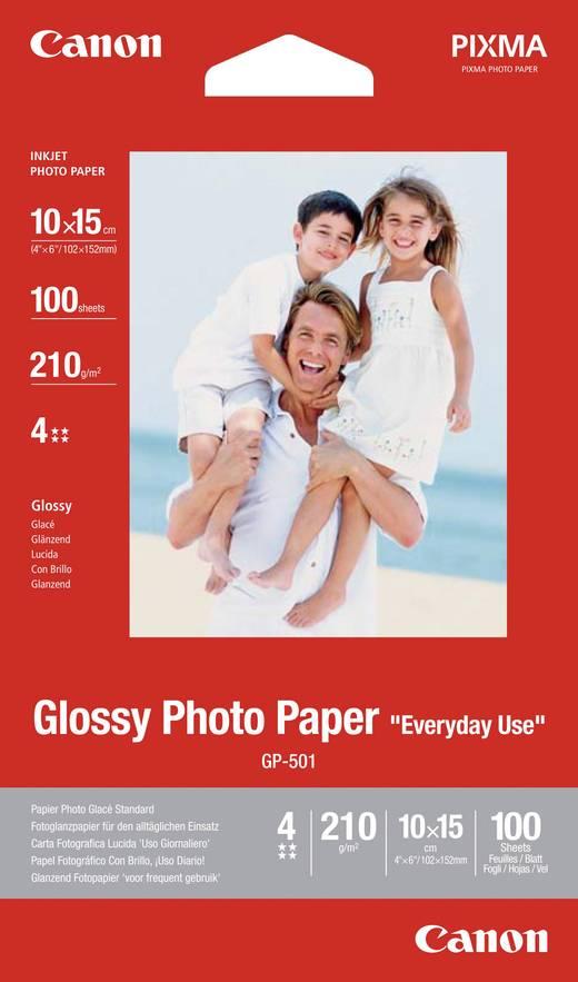 Fotopapier Canon Glossy Photo Paper Gp 501 0775b003 10 X 15 Cm 210 G