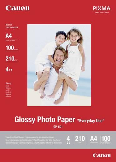 Fotopapier Canon Glossy Photo Paper GP-501 0775B001 DIN A4 210 g/m² 100 Blatt Glänzend