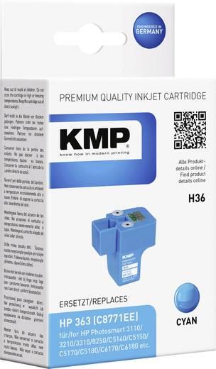 KMP Tinte ersetzt HP 363 Kompatibel Cyan H36 1700,0003