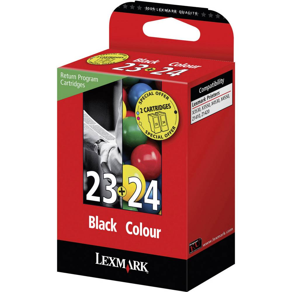 druckerpatronen kombi pack original lexmark 23 24 ersetzt lexmark 23 24 schwarz cyan magenta. Black Bedroom Furniture Sets. Home Design Ideas