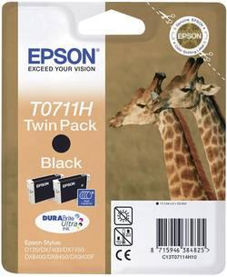Cartridge do tiskárny Epson T0711H, C13T07114H10, černá, 2 ks