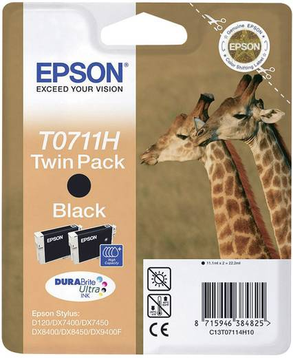 Epson Tinte T0711 Original 2er-Pack Schwarz C13T07114H10