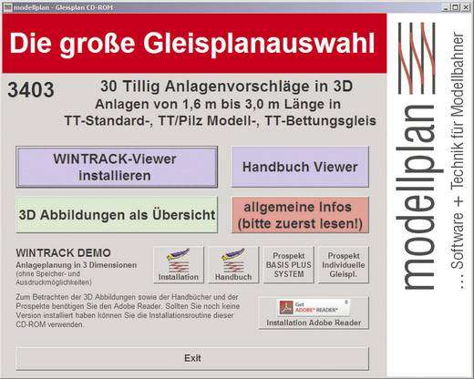 Modellplan Software Gleispläne Tillig TT 1,6 - 3,0 m Vollversion, 1 Lizenz Modellbahn-Software