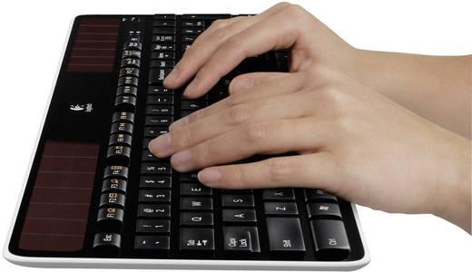 Funk-Tastatur Logitech K750 Wireless Solar Keyboard Schwarz Solar