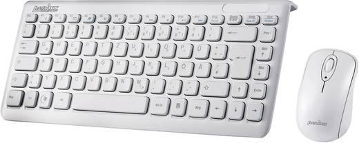 Perixx Periduo-707 Plus W Funk-Tastatur,- Maus-Set Weiß