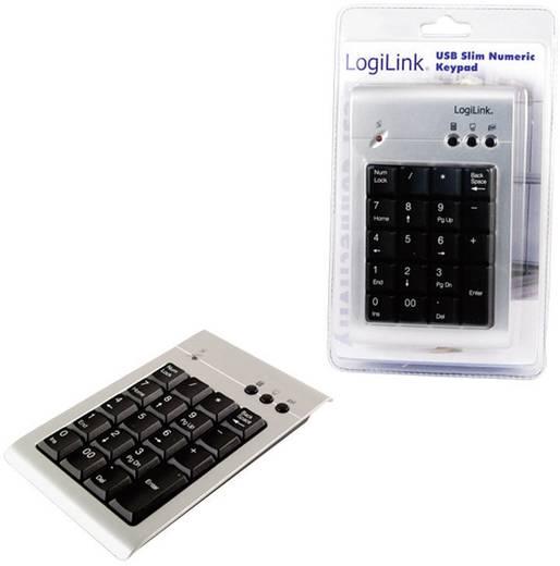 USB-Nummernblock LogiLink ID0008 Silber
