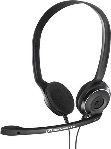 PC-Headset USB schnurgebunden, Stereo Sennheiser PC 8 USB On Ear Schwarz