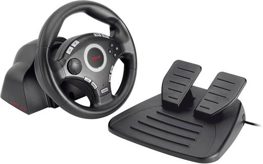 gxt 27 force vibration steering wheel lenkrad f r pc ps3. Black Bedroom Furniture Sets. Home Design Ideas