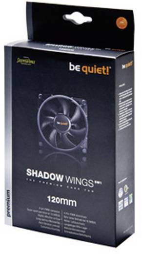 PC-Gehäuse-Lüfter BeQuiet Shadow Wings PWM 120 mm Low-Speed (B x H x T) 120 x 120 x 25 mm