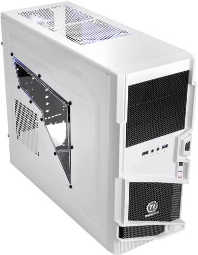 Midi-Tower PC-Gehäuse Thermaltake Commander MS-I Snow Edition Weiß