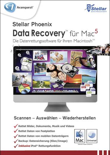Avanquest Stellar Phoenix Data Recovery 5 Mac Vollversion, 1 Lizenz Backup-Software