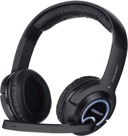 Gaming Headset USB schnurgebunden Speed-Link XANTHOS Over Ear Schwarz