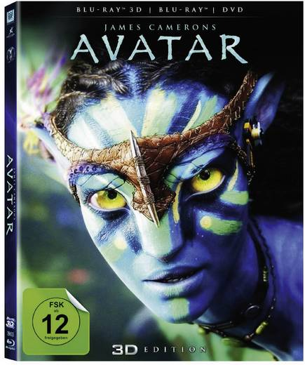 Avatar 3D - (Blu-ray 3D + Blu-ray + DVD) + 3D Brillen Partyset