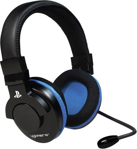 Gaming Headset USB schnurgebunden, Stereo 4Gamers Comm-Play Over Ear Schwarz, Blau