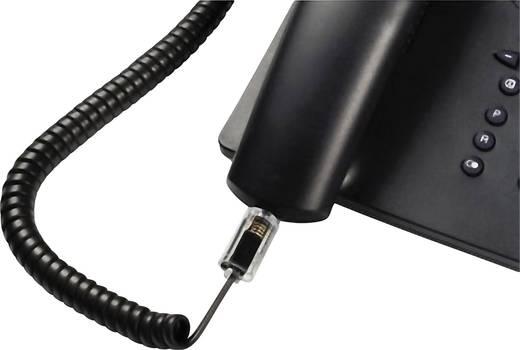 Kabel-Entzwirler Adapter [1x RJ10-Stecker 4p4c - 1x RJ10-Buchse 4p4c] 0 m Schwarz (transparent) Hama