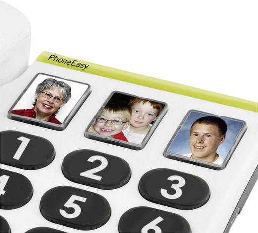 Schnurgebundenes Seniorentelefon doro PhoneEasy 331 ph Foto-Tasten kein Display Weiß