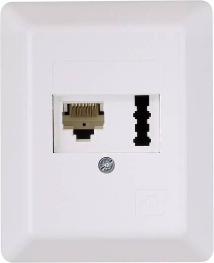 Telefondose ISDN Kombi-Dose Aufputz Weiß