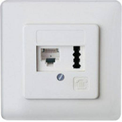 Telefondose ISDN Kombi-Dose Unterputz Weiß