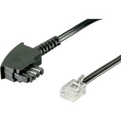 DSL prepojovací kábel Basetech BT-1602129, [1x telefónna zástrčka TAE-F - 1x RJ12 zástrčka 6p6c], 10.00 m, čierna