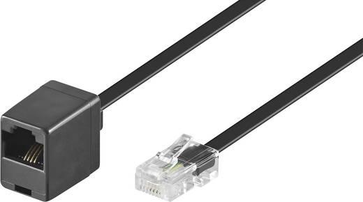 ISDN Verlängerungskabel [1x RJ45-Stecker 8p4c - 1x RJ45-Buchse 8p8c] 10 m Schwarz
