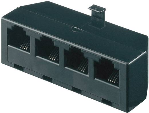 ISDN [1x RJ45-Stecker 8p4c - 4x RJ45-Buchse 8p4c] 0 m Schwarz