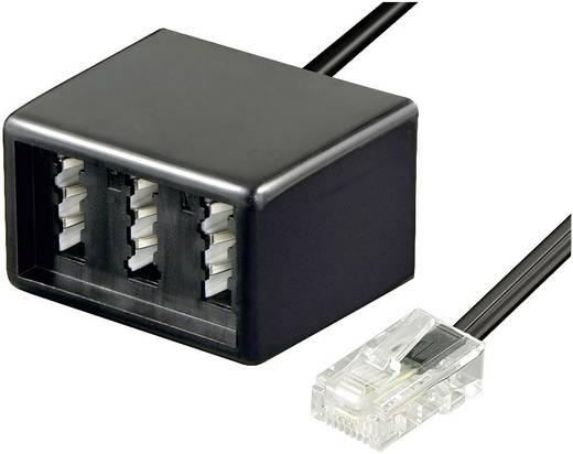 Western, Telefon (analog) Adapter [1x RJ45-Stecker 8p8c - 1x TAE-NFN-Buchse] 0.20 m Schwarz